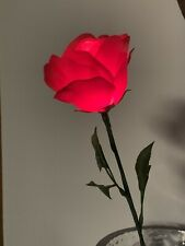 8 Single Stem Rose Buds .Battery Operated