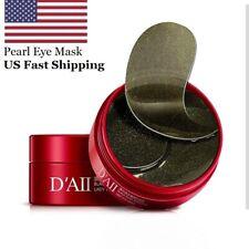 USA 60pcs Pearl Eye Mask Hydrogel Eye Patches Collagen Under Eye Pad Dark Circle