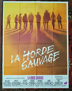 THE WILD BUNCH (1969) Original Grande French Movie Poster SAM PECKINPAH