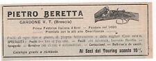 Pubblicità epoca 1911 BERETTA FUCILE ARMI GUN advert werbung publicitè reklame