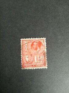 Malta stamp 1 1/2d King george v. 1910-36 red postage revenue. Used.