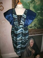 Ladies Vintage abstract Blue pattern dress