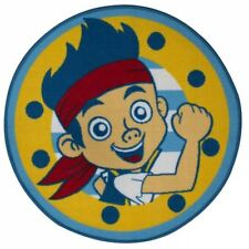 DISNEY JAKE AND THE NEVERLAND PIRATES SHARKS ROUND SHAPED FLOOR RUG MAT 80x80cm