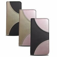 * Zweifarbig Book Case Buch Form Smart Magnet Cover Etui Schutzhülle ver. Handys