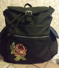 AriZona, Flower Embroidered Applique Backpack. Extra Roomy. NWT.