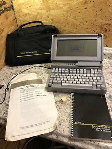 Texas Instruments TI TravelMate LT220 Portable Terminal Vintage Laptop Computer