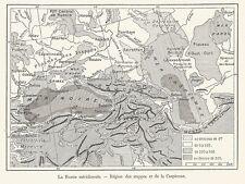 G0007 La Russia meridionale - Carta geografica antica del 1923 - Old map