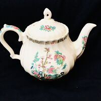 Vintage 1930's Sadler England Tea Pot White Cream Floral Swirl Flower 🌸