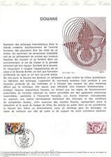 DOC. PHILATÉLIQUE - DOUANE - 1976 YT 1912