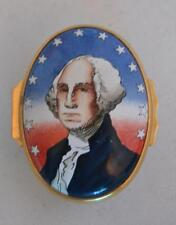 Halcyon Days English Enamels George Washington Tiffany and Co Trinket Box