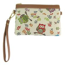 Owl Bird Design Tapestry Slim Crossbody Bag/Purse Slim  Signare