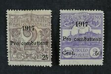 CKStamps: Italy Stamps Collection San Marino Scott#B1 B2 Mint HR OG