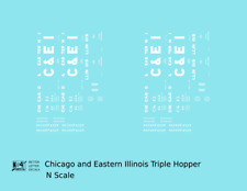 K4 N Decals Chicago and Eastern Illinois Triple Hopper White