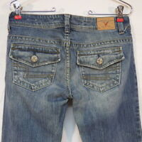 American Eagle Outfitters Distressed Stretch Wideleg  Jeans  Size 4 Regular