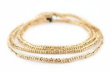 Gold Flower Heishi Beads 4mm Brass 24 Inch Strand
