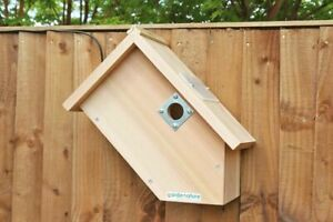 Bird Box with Wired Side View Camera | Garden Hanging Wild Birds Nest Wooden FSC