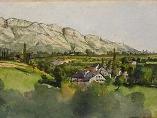 Paysage de montagne XIX/XX La croix du Nivolet massif des Bauges Chambéry Savoie
