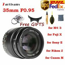 DHL 7artisans 35mm F0.95 APS-C Manual Focus Lens for Canon Nikon Sony Fuji M4/3