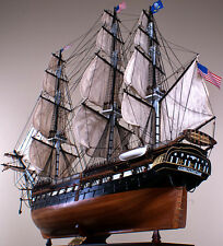 "USS CONSTITUTION 52"" large scaled wood model ship American historic sailing boat"