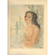 Print - Edouard Chimot: Buste nu - Ready to frame
