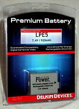 Delkin Premium Battery Canon LPE5  Rebel XSi T1i