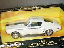 ERTL 1/18, 1968 MUSTANG CJ428, Cream, NEW