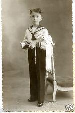 CPA Photo ancienne Jeune garçon habillé en marin communiant communion Tours