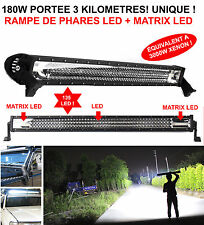 PROMO! PORTEE 4KM RAMPE DE PHARE LED+MATRIX LED 180W LAND PAJERO PATROL JEEP HDJ