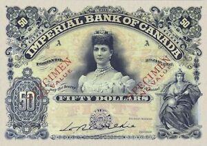 Canada, Imperial Bank of Canada, 50 Dollars, 1907, REPRODUCE