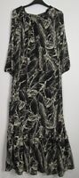 New Marks & Spencer 3/4 Sleeve Palm Print Maxi Dress - Uk Size  6 - 22