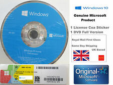 Brand New Microsoft Windows 10 home | 1 COA Licence Key + 1 64bit DVD Disk