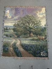 New ListingThomas Kinkade Country Living afghan, throw woven tapestry 50 x 60 New with Tags