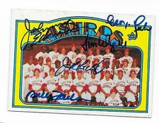 1972 TOPPS ASTROS TEAM CARD # 282 AUTOGRAPHED SIGNED BY 5 WYNN RICHARD RADER +2