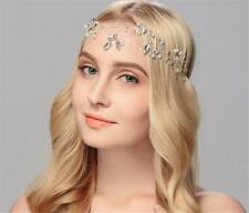 Rhinestone Bridal Headband Pearls Wedding Hair Halo Crystal Hair Vine 1 Piece