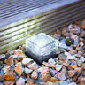 Solar Power Outdoor Wall Fence Light LED Stainless Steel Glass Patio Path Garden