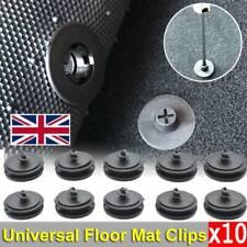 X10 Car Mat Carpet Clips Fixing Grips Clamps Floor Holders Sleeves Premium Black