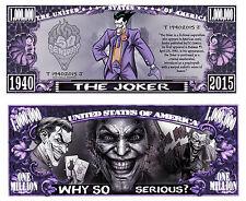 LE JOKER ! BILLET MILLION DOLLAR US! Collection Batman Super Heros Comics bd the