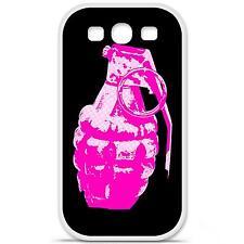 Coque housse étui tpu gel motif grenade rose Samsung Galaxy S3 i9300