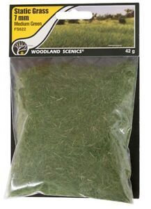 Woodland Scenics Static Grass Medium Green 7mm # FS622
