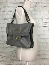 Bagsac Women's Handbag Grey Black Satchel Style Multiple Compartments