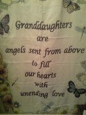 Granddaughter Fringe Throw Blanket- Great Gift!