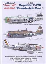 Lifelike Decals 1/48 REPUBLIC P-47D THUNDERBOLT Part 1