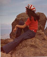1960's-70's African America black Hippie girl,fashion,bell bottoms,& flag hat K