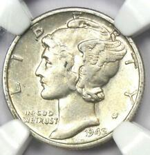 1942/1 Mercury Dime 10C - Certified NGC XF45 (EF45) - Rare Overdate Variety Coin