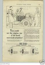 1927 PAPER AD Car Automobile Auto Steel Budd Wheel Co