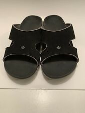 Spenco Women's Sz 9w KHolo Plus Slide Onyx Black Sandal Pre-owned.