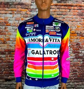 Amore & Vita Rad Trikot Bike Cycling Jersey Shirt Jacket Galatron Team Size L