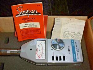 Simpson Model 886 Type-2 Sound Level Meter In Original Box & Owners Manual
