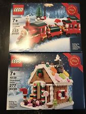 NEW LEGO 40139 Gingerbread House 40138 Christmas Train Bundle RETIRED RARE