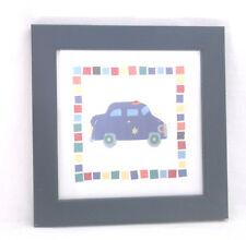 "Police Car Framed Art Print by Sophie Harding-Navy Blue Framed-10 X 10""-2005"